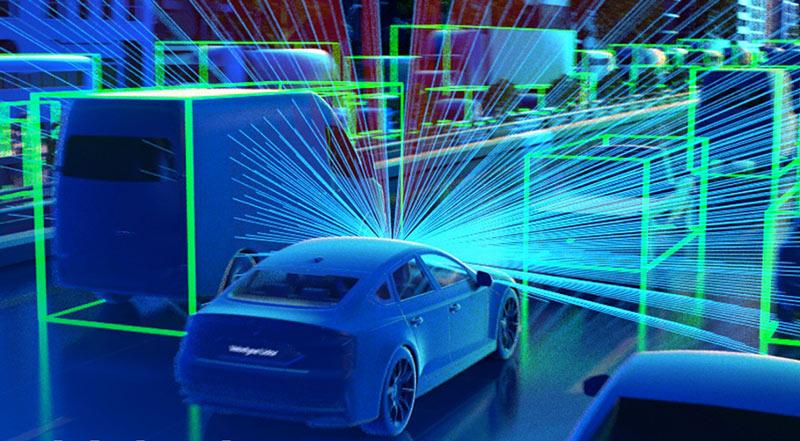 Cảm biến LiDAR dùng trong xe hơi để nhận biết vật cản. Ảnh:Traffictechnologytoday.com