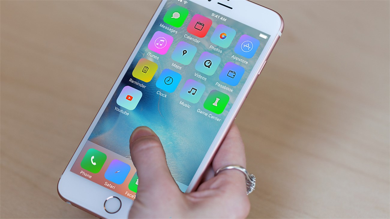 Giao diện iphone 6s