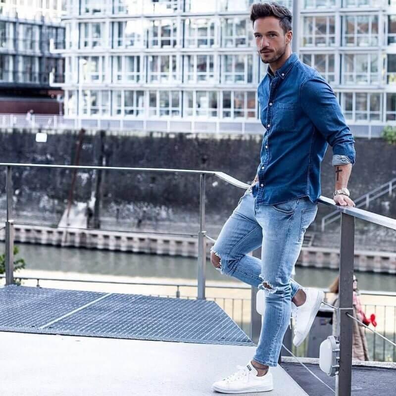 Chọn giày phù hợp khi phối đồ cùng quần jeans.
