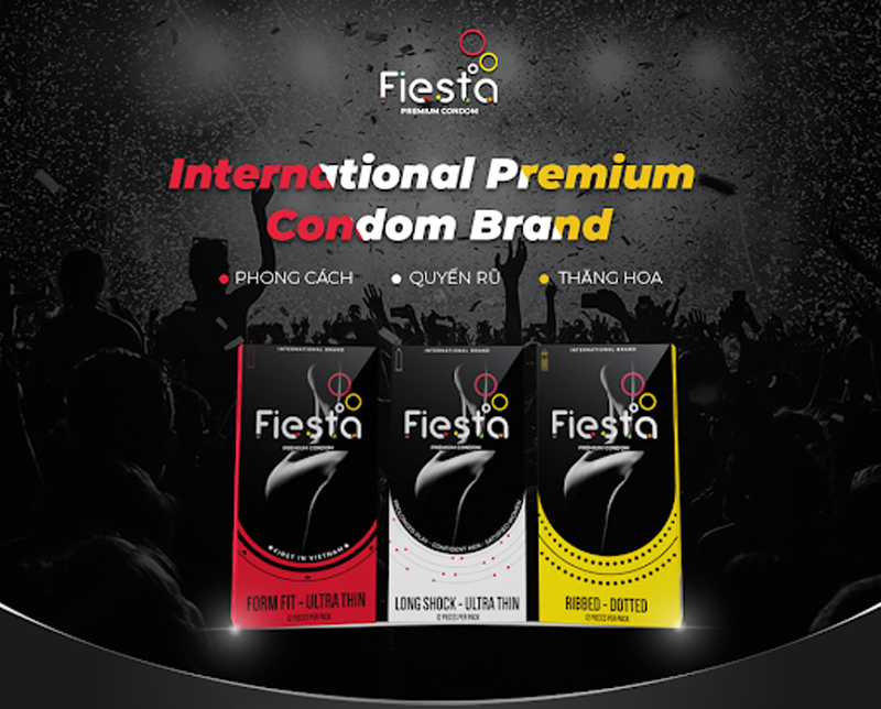 Bao cao su FIESTA là một trong số những sản phẩm khó làm giả nhất trên thị trường.