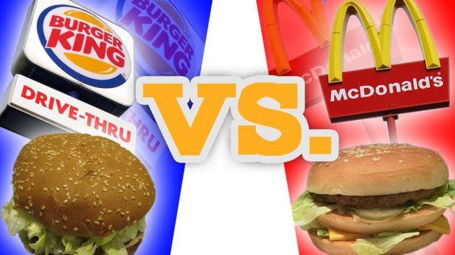 cuộc chiến bánh mì kẹp thịt giữa McDonald và Burger King