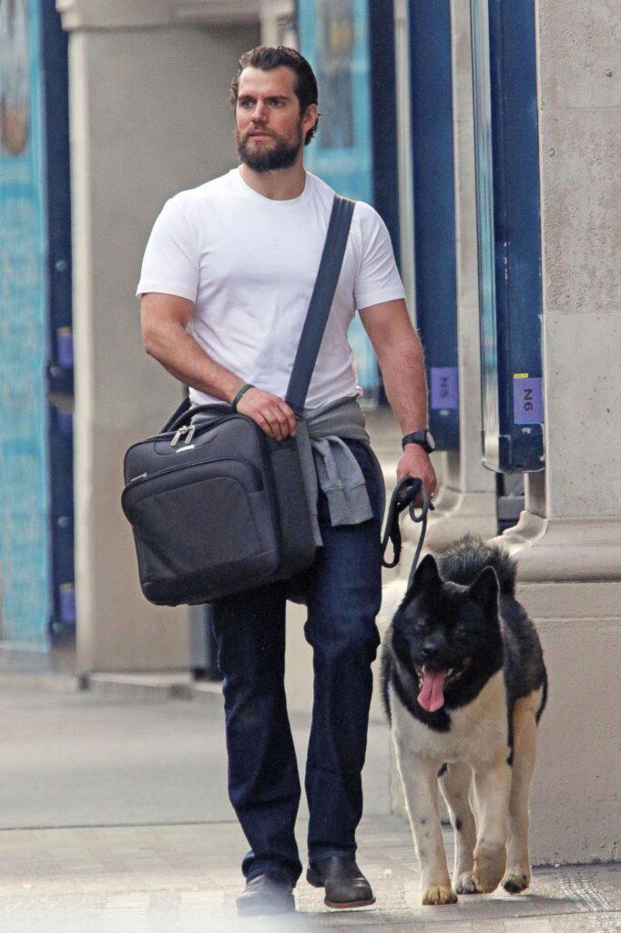 Henry Cavill đi dạo cùng chú chó của mình