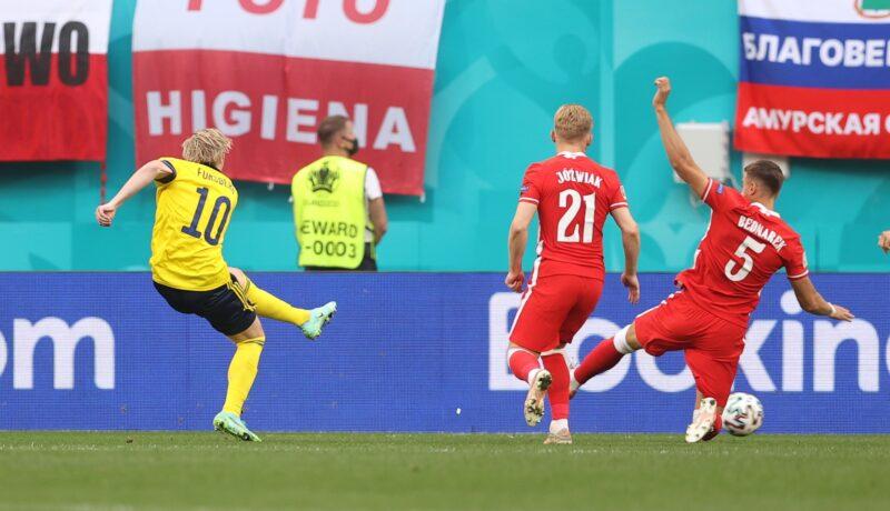 Forsberg ghi bàn sớm nhất tại VCK Euro 2020.